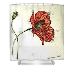 Lady Yee Shower Curtain by Katharina Filus