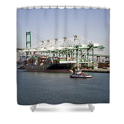 Lafd Fire Boat 2 San Pedro Ca 03 Shower Curtain