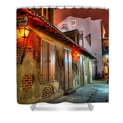 Shower Curtain featuring the photograph Lafitte's Blacksmith Shop by Tim Stanley