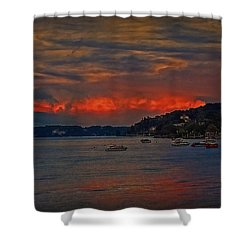 Shower Curtain featuring the photograph Lago Maggiore by Hanny Heim