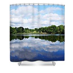 Lagoon IIi Shower Curtain by Joe Faherty