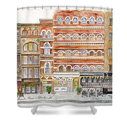 Laguardia Place In Greenwich Village Shower Curtain