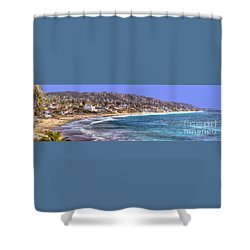 Laguna Beach Coast Panoramic Shower Curtain