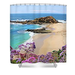 Laguna Beach Coastline Shower Curtain by Jane Girardot