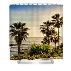 Laguna Beach Shower Curtain by Mariola Bitner