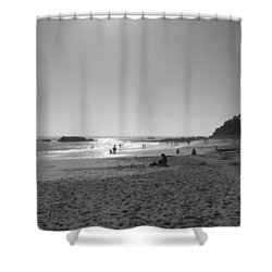 Laguna Sunset Reflection Shower Curtain by Connie Fox
