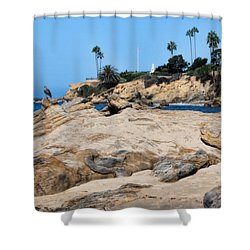 Laguna Shower Curtain by Tammy Espino