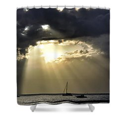 Lahaina Sunset 2 Shower Curtain by Dawn Eshelman