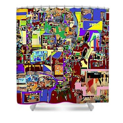 Lail Haseder 4 Bais Shower Curtain by David Baruch Wolk