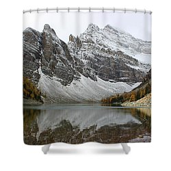 Shower Curtain featuring the photograph Lake Agnes by Ramona Johnston