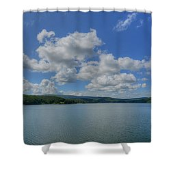Lake Arrowhead Shower Curtain by Julia Wilcox