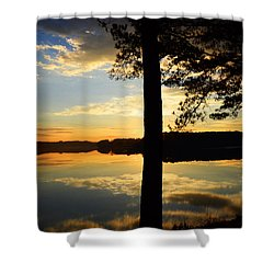 Lake At Sunrise Shower Curtain