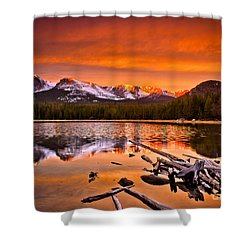 Lake Bierstadt In The Morn Shower Curtain by Steven Reed