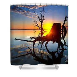 Lake Bonney Sunrise Shower Curtain by Bill  Robinson