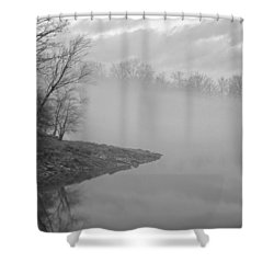 Lake Chatuge Lost In Fog Shower Curtain