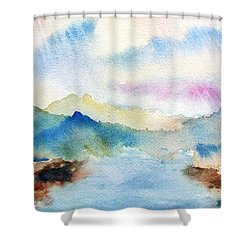 Lake Chuzenji Nikko Shower Curtain