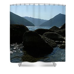 Shower Curtain featuring the photograph Lake Crescent by Jane Ford