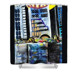 Lake Eola - Part 1 Of 3 Shower Curtain by Everett Spruill
