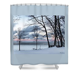 Lake Erie Sunrise Shower Curtain