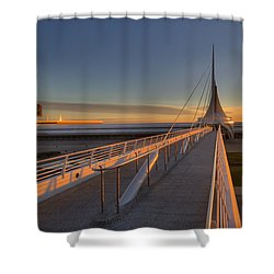 Lake Front View Shower Curtain