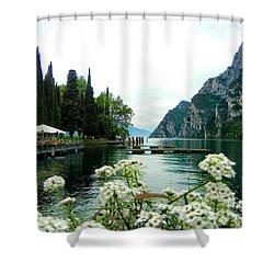Lake Garda Shower Curtain by Mariola Bitner