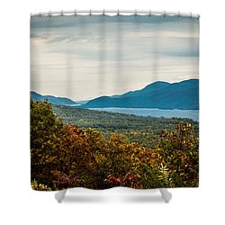 Lake George Shower Curtain by Sara Frank