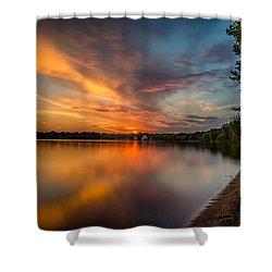 Lake Harriet Grand Finale Shower Curtain by Mark Goodman