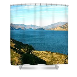 Lake Hawea Shower Curtain by Stuart Litoff