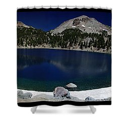 Lake Helen At Mt Lassen Triptych Shower Curtain by Peter Piatt