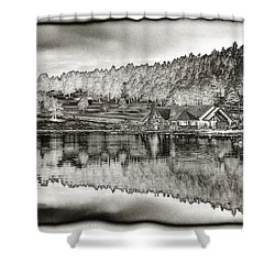 Lake House Reflection Shower Curtain
