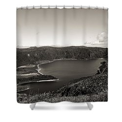 Lake In A Crater Shower Curtain