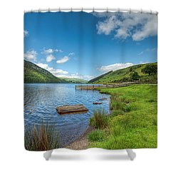 Lake In Wales Shower Curtain by Adrian Evans