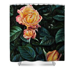 Lake J Rose Shower Curtain by Craig T Burgwardt