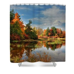 Lake Jean Reflections Shower Curtain by Lori Deiter