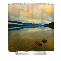 Lake Kaniere New Zealand Shower Curtain by Amanda Stadther