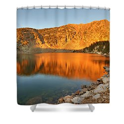Lake Katherine Sunrise Shower Curtain