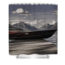 Shower Curtain featuring the photograph Lake Mcdonald by Ellen Heaverlo