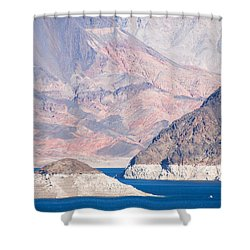 Shower Curtain featuring the photograph Lake Mead National Recreation Area by John Schneider
