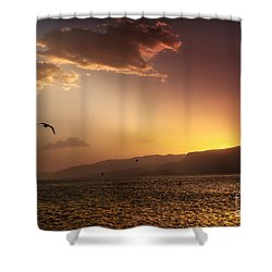 Lake Mead Sunrise Shower Curtain by Robert Bales