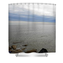 Lake Michigan 3 Shower Curtain by Verana Stark