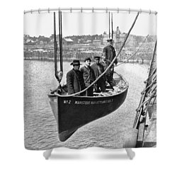 Lake Michigan Ferry Lifeboat Shower Curtain