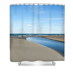 Lake Michigan Waterway  Shower Curtain by Verana Stark