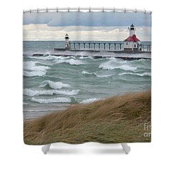 Lake Michigan Winds Shower Curtain