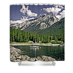 Lake Minnewanka Shower Curtain