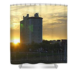 Lake Mirror Pano Shower Curtain by Laurie Perry