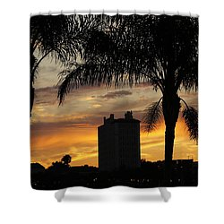 Lake Mirror Sunset Shower Curtain by Laurie Perry