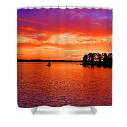 Lake Murray Sunset Shower Curtain