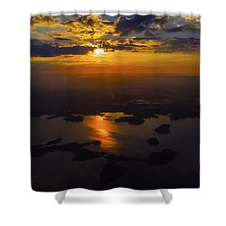 Lake Norman Sunrise Shower Curtain by Greg Reed