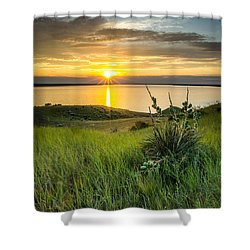Lake Oahe Sunset Shower Curtain