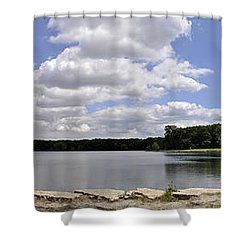 Shower Curtain featuring the photograph Lake Of Dreams by Verana Stark